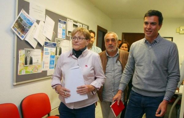 Rita Prada, Antonio Vega y Pedro Sánchez en una foto de archivo (C.Sánchez/Ical)