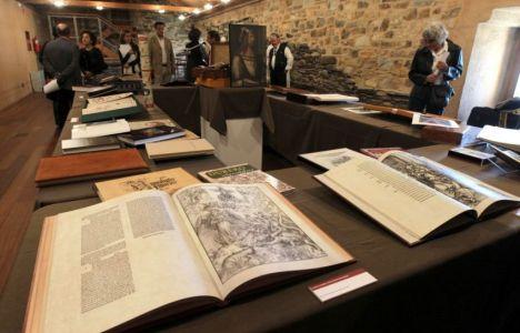 Imagen de la colección en la biblioteca del castillo (César Sánchez)
