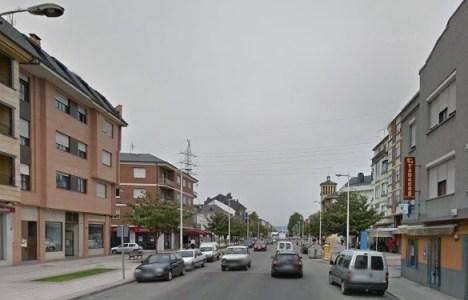 Imagen de la avenida de Galicia de Ponferrada