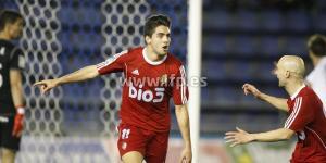 Sobrino celebra el gol que a la postre le dio el triunfo a la Deportiva (LFP)