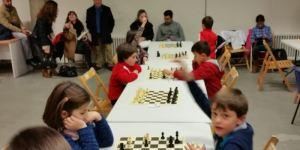 Ana y Heriberto, durante la partida que les enfrentó en León (Club Temple)