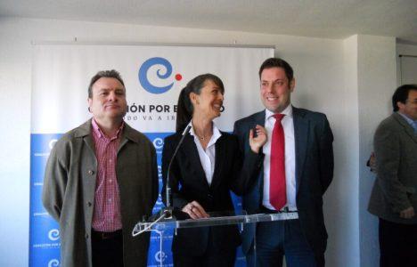 La portavoz de formación, Raquel Díaz. junto a Iván Alonso y  Antonio Velasco en foto de archivo
