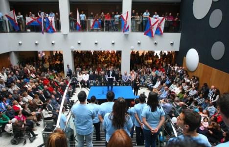 Un millar de personas asistieron a la presentación de la coalición (C. Sánchez/Ical)