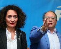 La candidata a la Alcaldía, Gloria F. Merayo, y el presidente provincial del PP, Eduardo Fernández
