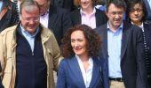 Silván,  Merayo y Majo durante la presentación de la candidatura (C. Sánchez / Ical)