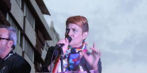 Yolanda Arias, vocalista de la banda