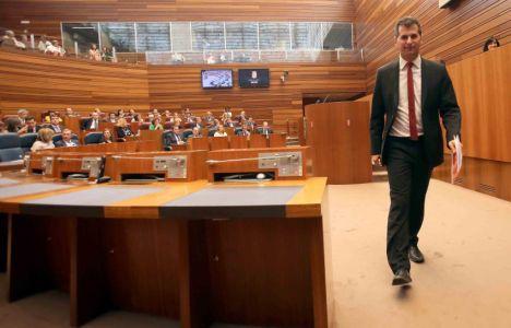 Luis Tudanca al término de su intervención (Miriam Chacón)