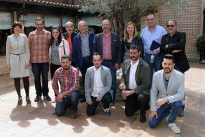 Una veintena de profesionales participó en las jornadas de periodismo en Veguellina de Órbigo. Peio García (ICAL)