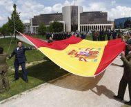 El IES Europa de Ponferrada recibe el premio Ejército 2016 durante el homenaje a la bandera de España en León