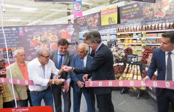 El presidente de la Diputación de León y algunos productores de la provincia acudieron a la presentación de Madrid. / DL