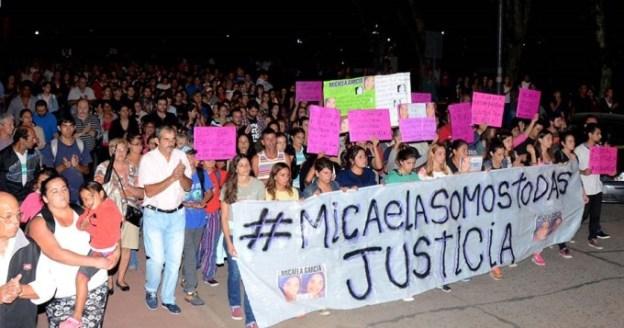 otra marcha Micaela