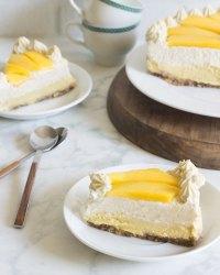 Pastel de mango y vainilla saludable