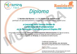 Diploma acreditativo de curso e-Learning para Docentes