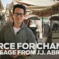JJ Abrams on set of Star Wars – Spenden und im Film mitspielen