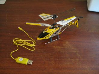 helicopter and charging cable