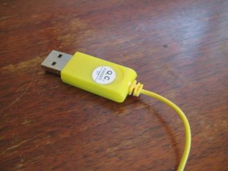USB end of cable