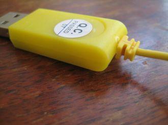 closeup on USB strain relief