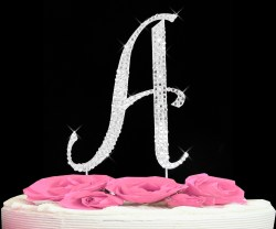 Favorite Completely Covered Swarovski Initial Cake Pers Completely Covered Swarovski Initial Cake Pers Bridal Wedding Cake Per Initials Wedding Cake Pers Fishing