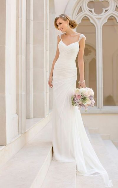 20 Elegant Simple Wedding Dresses of 2015 - BridalTweet ...