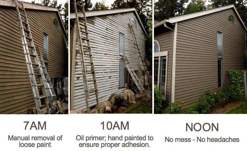 Bellevue house painters elegant painting - Remove exterior paint image ...