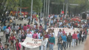 Mexico City March to Free 8 Michoacán Students
