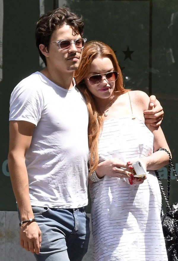 52088170 Actress Lindsay Lohan and fiance Egor Tarabasov spending the day together in Madrid, Spain on June 10, 2016. Egor has been planning a huge 30th birthday bash for Lindsay on July 2nd in Greece. FameFlynet, Inc - Beverly Hills, CA, USA - +1 (310) 505-9876 RESTRICTIONS APPLY: USA/AUSTRALIA ONLY