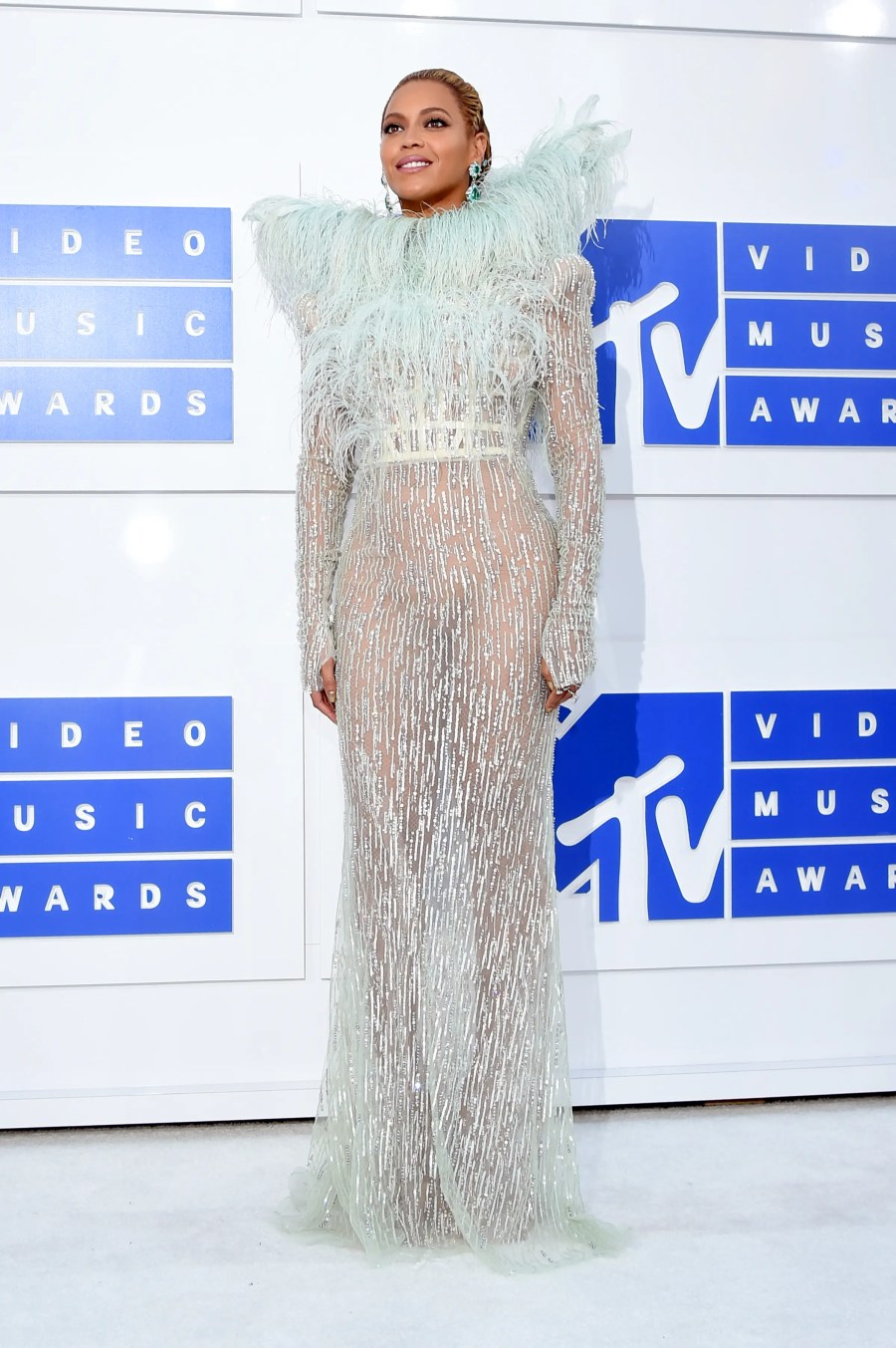 NEW YORK, NY - AUGUST 28: Beyonce attends the 2016 MTV Video Music Awards at Madison Square Garden on August 28, 2016 in New York City. Larry Busacca/Getty Images for MTV/AFP