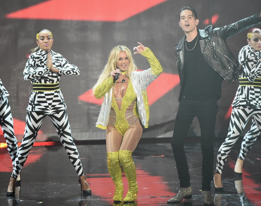 NEW YORK, NY - AUGUST 28: Britney Spears performs onstage during the 2016 MTV Video Music Awards at Madison Square Garden on August 28, 2016 in New York City. Michael Loccisano/Getty Images/AFP