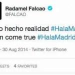 El Tweet de Falcao que borró pero que ha conmocionado al Mundo del Fútbol