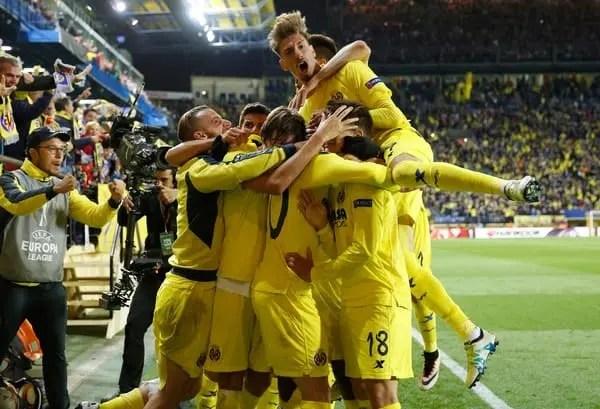 El Villarreal en un partido de la Europa League / Agencias