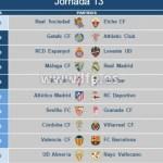 Fechas y horarios de la Jornada 13 de la Liga