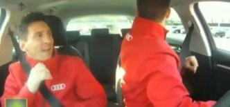 """Messi se """"acongojó"""" en los test drive de Audi ¡ haciendo de copiloto con Piqué ! (video)"""