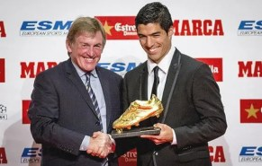 Luis Suárez en la entrega de la bota de oro donde realizó sus últimas declaraciones. Foto: Agencia