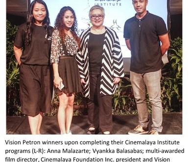 Vision Petron, Cinemalaya support young Filipino film-makers