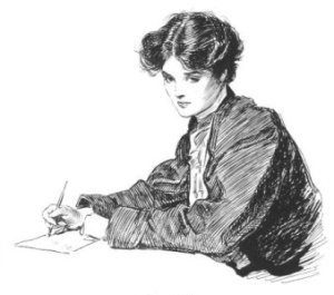 woman-writing-letters-by-charles-dana-gibson