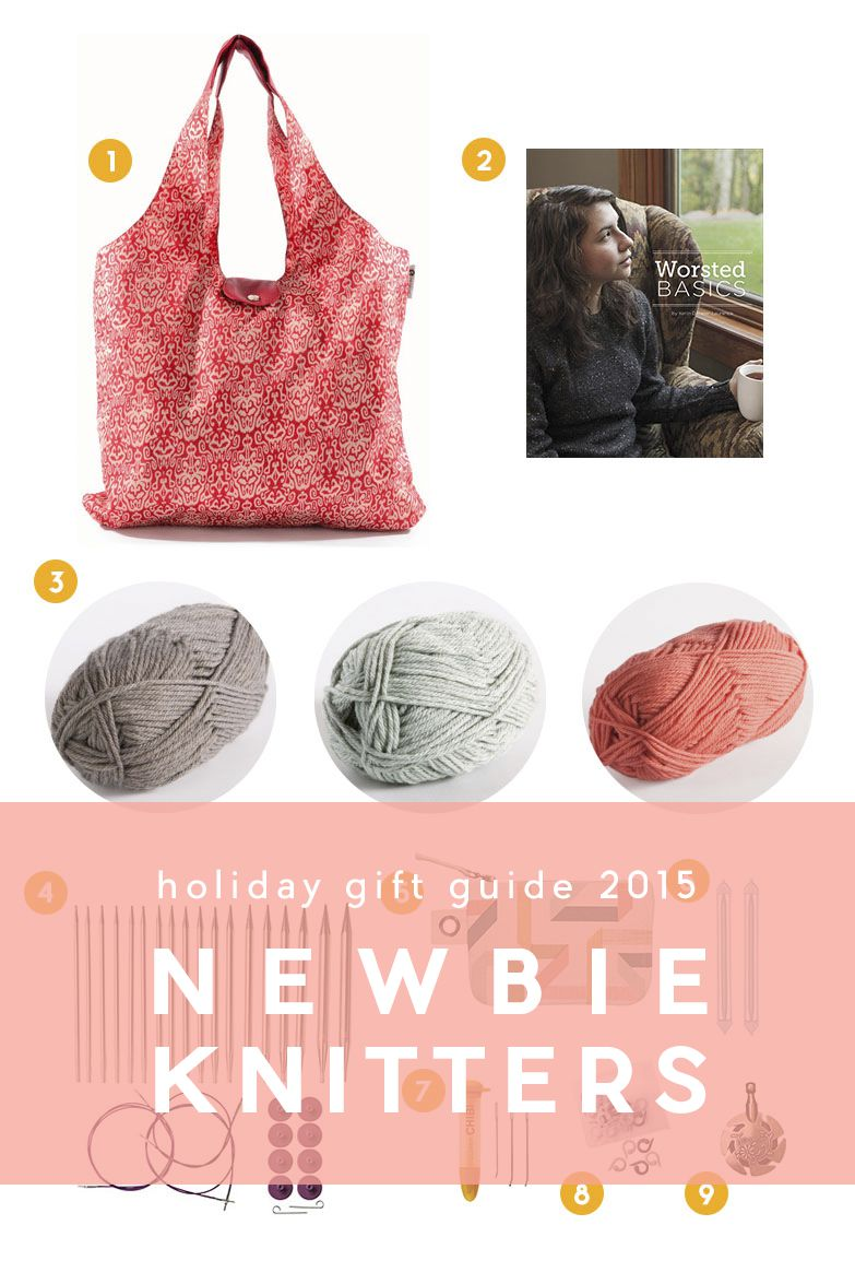 Holiday Gift Guide 2015 | 6 Gifts for Newbie Knitters | This holiday gift guide promises to please any beginner, newbie knitters in your life. Give a gift that inspires and encourages them to keep at it!
