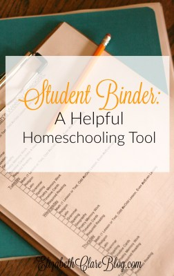 Student Binder:  A Helpful Homeschool Habit