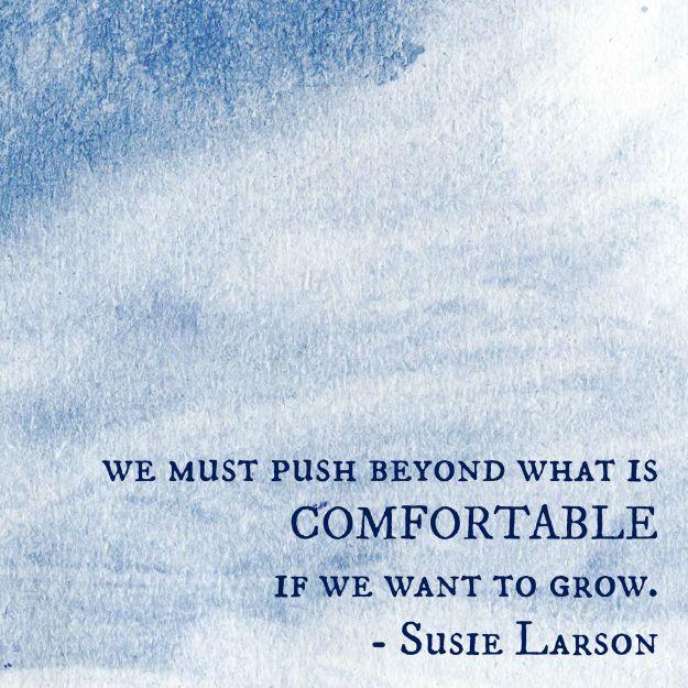 susie larson comfortable want to grow balance elizabeth cravillion