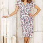 Adini Rosemary Print Flavia Summer Dress Frost