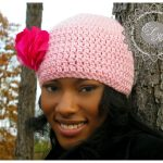 Jazzed Up Version of a Simple Beanie Hat – Free Pattern