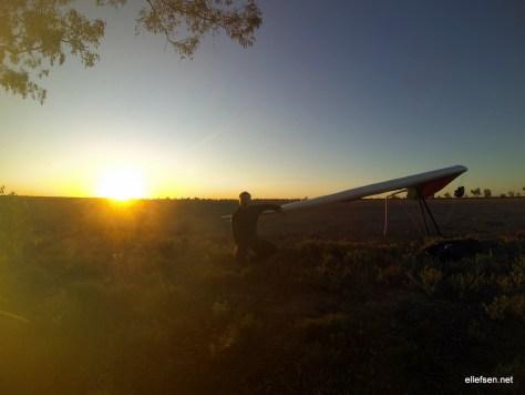 Sunset landing.