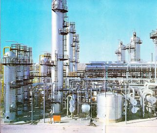 Oil Refinery in the Middle East (late 1950s)