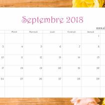 Calendrier Ellia Rose Fleurs et bois 2018 Septembre