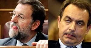 Rajoy y Zapatero