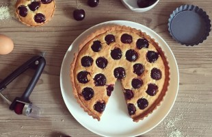 """Cherry Bakewell"" Frangipane Tart with a little help from OXO UK"