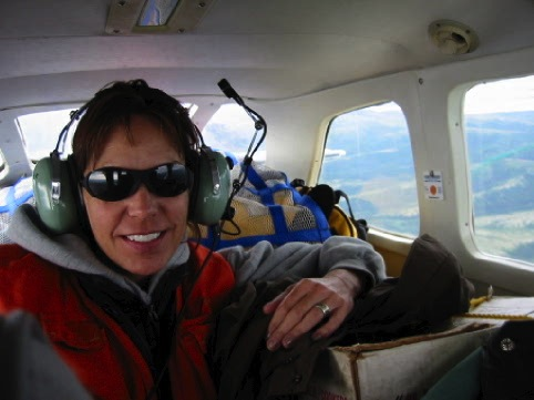 Flying across Alaska.
