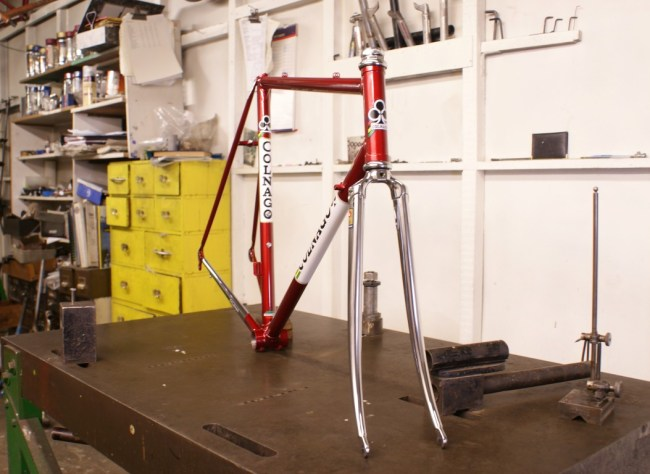 Colnago Frame With Chrome Plating