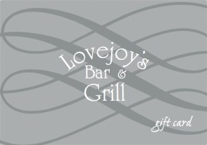 Lovejoy's gift card