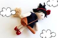 Une poupée Kiki la petite sorcière au crochet