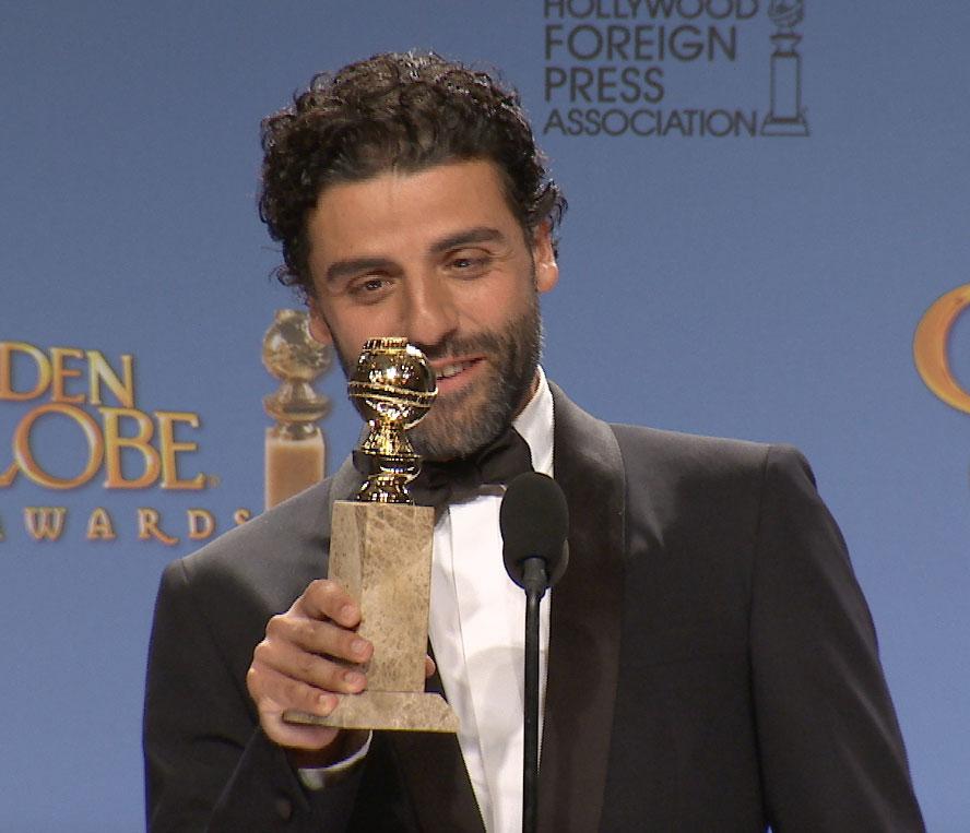 Oscar Isaac no podía creer que había ganado el premio.
